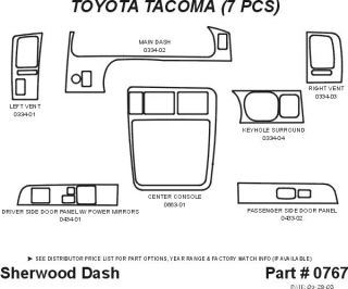 1998 2004 Toyota Tacoma Wood Dash Kits   Sherwood Innovations 0767 N50   Sherwood Innovations Dash Kits