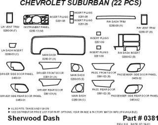 1995 1999 Chevy Tahoe Wood Dash Kits   Sherwood Innovations 0381 N50   Sherwood Innovations Dash Kits