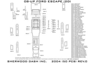 2008 2012 Ford Escape Wood Dash Kits   Sherwood Innovations 2004 R   Sherwood Innovations Dash Kits