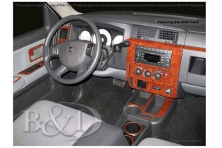 2008 2011 Dodge Dakota Wood Dash Kits   B&I WD872A DCF   B&I Dash Kits