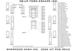 2008 2012 Ford Escape Wood Dash Kits   Sherwood Innovations 2026 R   Sherwood Innovations Dash Kits