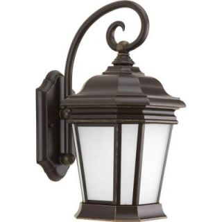Progress Lighting Crawford Collection 1 Light Outdoor Oil Rubbed Bronze Wall Lantern P5686 108