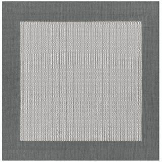 Couristan Recife Checkered Field Grey/White Indoor/Outdoor Area Rug