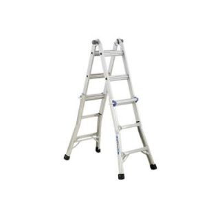 Werner 13 ft. Aluminum Telescoping Multi Position Ladder with 250 lb. Load Capacity Type I Duty Rating MT1 13B