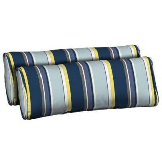 Hampton Bay Stella Stripe Outdoor Bolster Pillow (2 Pack) DISCONTINUED AD23803B 9D2