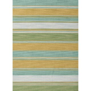 Handmade Flat weave Stripe pattern Green Accent Rug (2 x 3