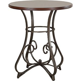 Powell 42 Round Wood/Metal Hamilton Pub Table, Medium Cherry