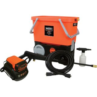 Mighty Clean 40 Volt Lithium-Ion Pressure Washer — 500 PSI, 1.0 GPM, Model# MC4050PB  Electric Cold Water Pressure Washers