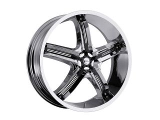 Milanni 459 Bel Air 5 18x7.5 5x110/5x115 +38mm Chrome/Black Wheel Rim