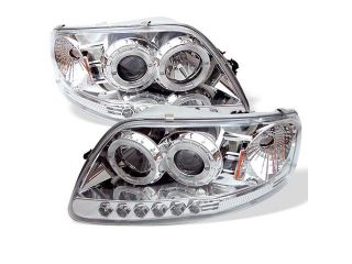 Spyder Auto Ford F150 97 03 / Expedition 97 02 ( Will Not Fit Anything Before Manu. Date June 1997 ) 1PC Halo LED ( Replaceable LEDs ) Projector Headlights   Chrome PRO YD FF15097 1P AM C