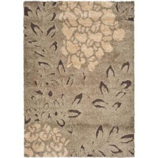 Safavieh Florida Shag Smoke/Dark Brown 5 ft. x 5 ft. Square Area Rug SG456 7928 5SQ
