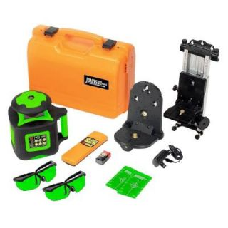 Johnson Electronic Self Leveling Rotary Laser Level with GreenBrite Technology 40 6545