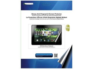 Green Onions supply Glossy Anti Fingerprint Screen Protector for BlackBerry PlayBook RT SPBPB701AF