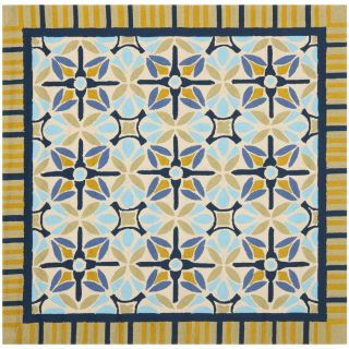 Safavieh Four Seasons Square Brown Geometric Indoor/Outdoor Woven Area Rug (Common 6 ft x 6 ft; Actual 6 ft x 6 ft)