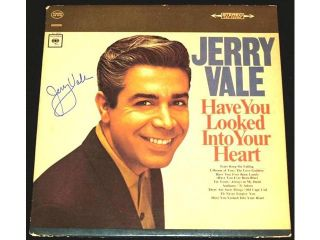 Jerry Vale Autographed Have You Looked Into Your Heart Lp Record Album Cover