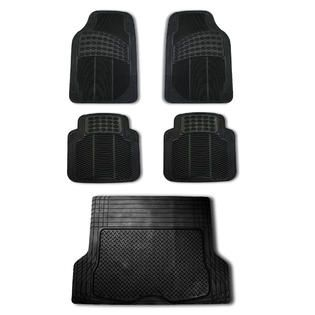 FH Group 5pc Full Set All Weather Heavy Duty Auto Floor Mat Trunk
