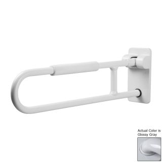 Ponte Giulio USA Glossy Gray Wall Mount Folding Grab Bar