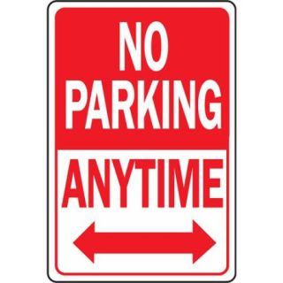 "Hy ko HW 1 12"" x 18"" Aluminum No Parking Anytime Sign"