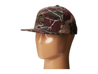 Obey Plateau Snapback Hat Burgundy Camo, Accessories