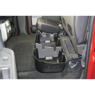 DU-HA Truck Storage System — Ford F-150 Super Crew, Fits 2009-2014 Models With Subwoofer, Black, Model# 20078  Interior Storage