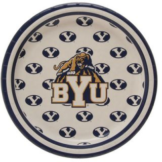 BYU Cougars 8 Pack Lunch Plate Set