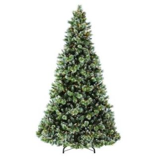 Martha Stewart Living 9 ft. Indoor Pre Lit Glittery Bristle Pine Artificial Christmas Tree 9315810610