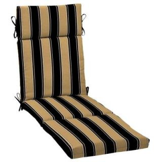 Hampton Bay Twilight Stripe with Roux Outdoor Chaise Lounge Cushion AC30853X 9D1