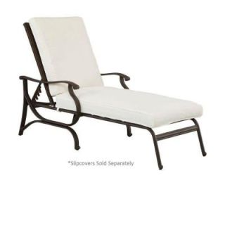 Hampton Bay Pembrey Patio Chaise Lounge with Cushion Insert (Slipcovers Sold Separately) HD14219