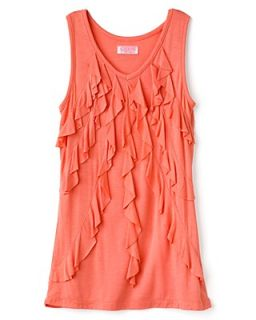 GUESS Kids Girls' Front Ruffle Tank Top   Sizes S XL