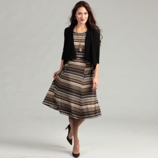 Jessica Howard Womens Black/ Brown Zig zag Dress   Shopping
