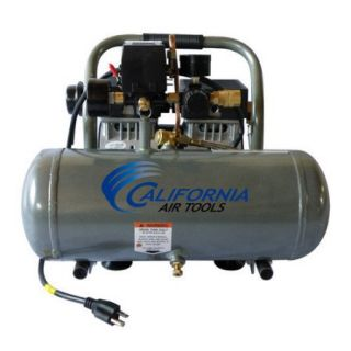 California Air Tools 1.6 Gallon Ultra Quiet and Oil Free 1/2 HP Aluminum Tank Air Compressor