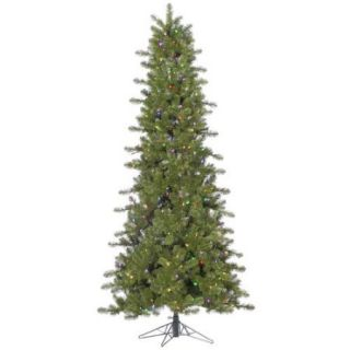 4.5' Pre Lit Slim Ontario Spruce Artificial Christmas Tree–Multi Color LED Lights