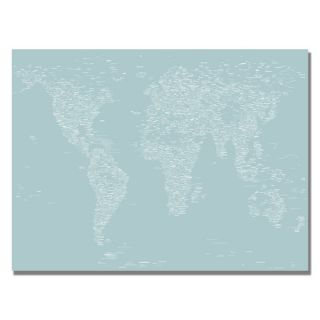 Michael Tompsett Font World Map V Canvas Art   14999104