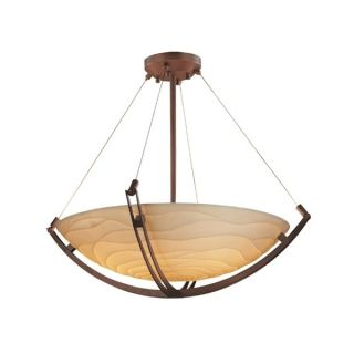 Justice Design Group Porcelina Crossbar 6 light Dark Bronze Round