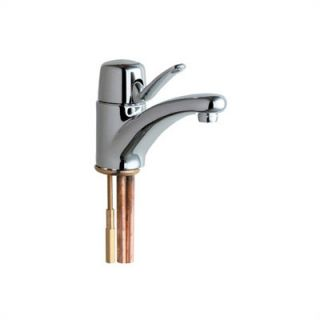 Chicago Faucets Marathon Single Hole Bathroom Faucet with Single Lever