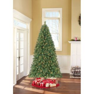 Holiday Time Pre Lit 7.5' Berkshire Pine Artificial Christmas Tree, Color Changing Lights