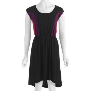 Miss Tina Women's High Low Colorblock Dress