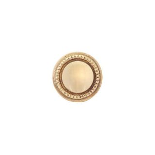 Copper Mountain Hardware 1 1/4 in Polished Brass Round Cabinet Knob
