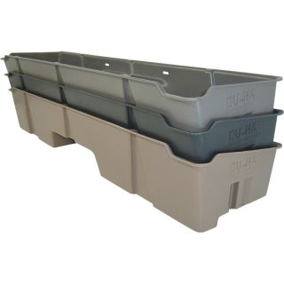 DU-HA Truck Storage System — GMC Sierra Extended Cab (Classic), Fits 1999-2007 Models, Light Gray, Model# 10002  Interior Storage