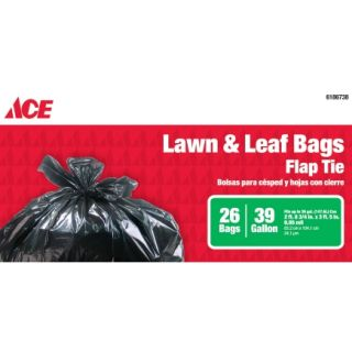 Ace� 39 Gal Flap Tie Lawn and Leaf Bags    Trash Bags & Holders