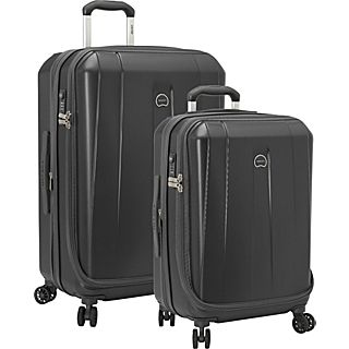 Delsey Helium Shadow 3.0 2 Piece Expandable Hard side 4 Wheeled Luggage Set, 21, 25