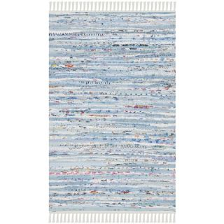 Safavieh Hand Woven Rag Rug Light Blue/ Multi Cotton Rug (2 3 x 10)