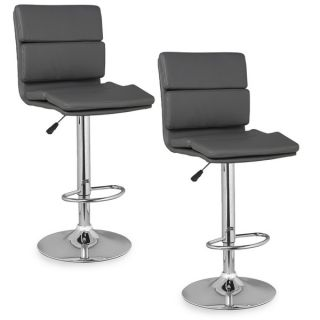 Panel Back Adjustable Swivel Stool (Set of 2)   15829755