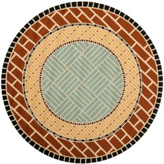 Safavieh Four Seasons Round Brown Transitional Indoor/Outdoor Woven Area Rug (Common 6 ft x 6 ft; Actual 6 ft x 6 ft)