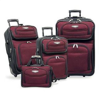 Travelers Choice Amsterdam 4 Piece Two Tone Travel Set in Red