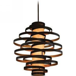 Corbett Lighting COR 113 76 Vertigo Bronze/Gold Leaf  Pendants Lighting