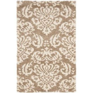 Safavieh Florida Shag Beige/Cream 8 ft. x 10 ft. Area Rug SG460 1311 8
