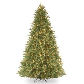 "9' ""Feel Real"" Tiffany Fir Hinged Tree with 1050 Clear Lights    National Tree Company"