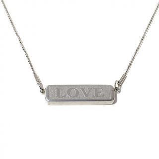 "Kate Forty Eight ""Love"" Stainless Steel 20"" Bar Necklace   8089373"