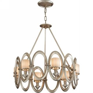 Corbett Lighting COR 134 46 Embrace Satin Silver Leaf  Pendants Lighting
